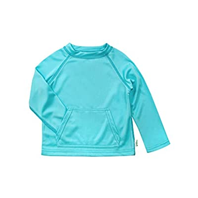 i play. by green sprouts baby girls Breatheasy Protection Shirt infant and toddler sun protective swimwear, Light Aqua, 18-24 Months US