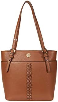 Anne Klein Studded Pocket Tote Saddle One Size product image