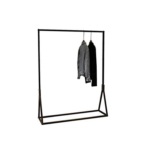 SZQ-Percheros burro Barra horizontal Escudo Rack, Escudo Negro piso rack grandes boutiques de venta al consumidor soporte de metal Soporte ropa rack de altura: 160cm , Para el hogar / tienda de ropa