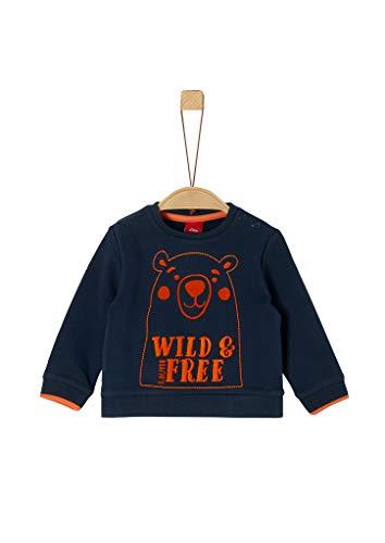s.Oliver Baby-Jungen 65.909.41.2760 Sweatshirt, Blau (Dark Blue 5952), (Herstellergröße: 68)
