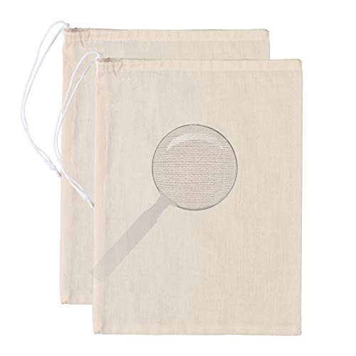 Cotton Cheesecloth Bags for Straining Almond Milk, Yogurt, Juice -2 Pack Large 14'x 12' Juyomox Nut Milk Bag - Reusable Fine Mesh Cheese Cloth Strainer with Easy open Drawstring