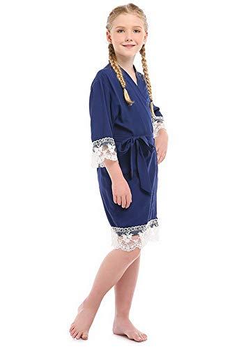 Bata Kimono de Algod¨n para ni?as Bata para ni?os Albornoces Camis¨n Ropa de Dormir para Bodas Cumplea?os SPA