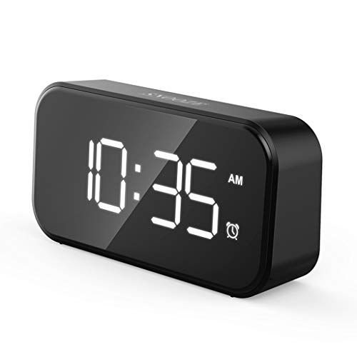 Aawsome Reloj despertador USB de 12/24 H con pantalla LED digital grande de 12 pulgadas para dormitorios, cocina, oficina, Snooze