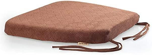 Sigmat Dining Chair Pad, U-Shape Memory Foam Kitchen Chair Cushion with Strips Coffee Standard