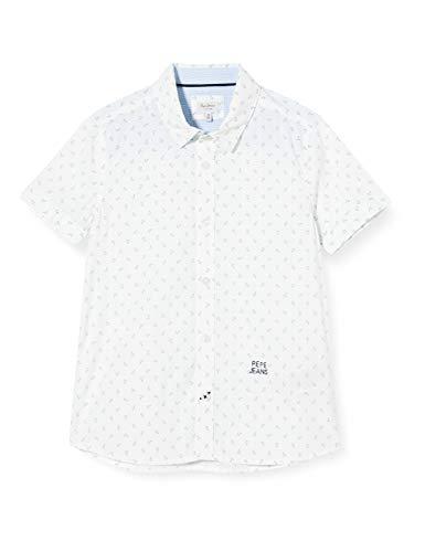 Pepe Jeans Jungen Bluse Pepe Jeans, Weiß (Optic White 802), 6-7 Jahre (Herstellergröße: 6)