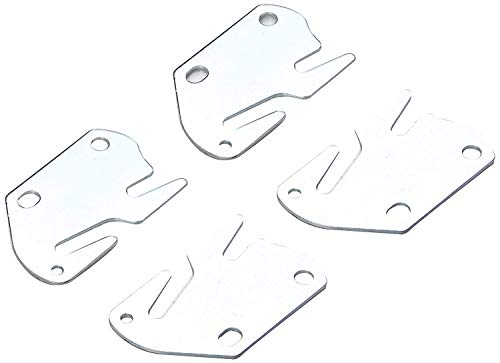 Bed Claw #10 Hook Plates for Wooden Beds, Set of 4