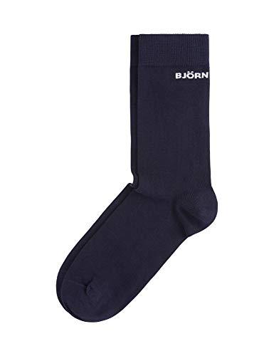 Bjorn Borg Men's Solid Socks Unisex Blue in size 41-45