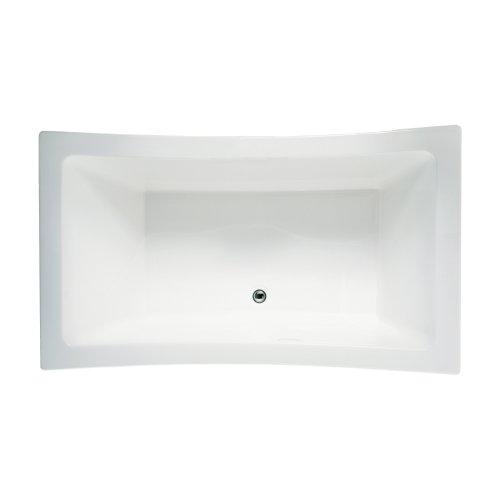Jacuzzi ALL7242BCXXXXW Allusion 72in x 42in Drop In Soaking Bathtub, 72-Inch by 42-Inch by 26-Inch, White