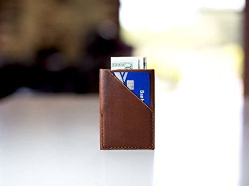 Brown Card Holder made with Horween Dublin Leather