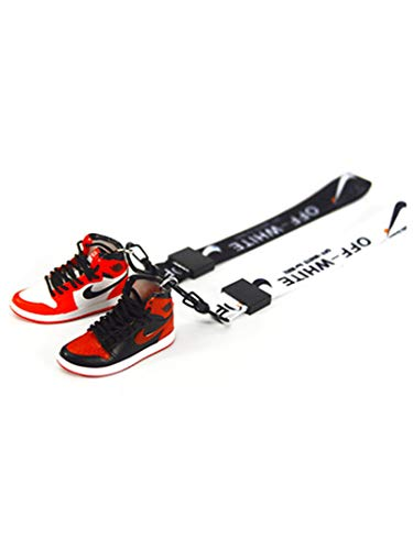 Llavero Jordan AJ con colgante de mujer, diseño de zapatos bonitos, 2 unidades, 1 (Rojo) - WHXJ-UOSTSD