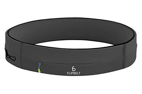 FlipBelt Running & Fitness Workout Belt, Carbon, Medium