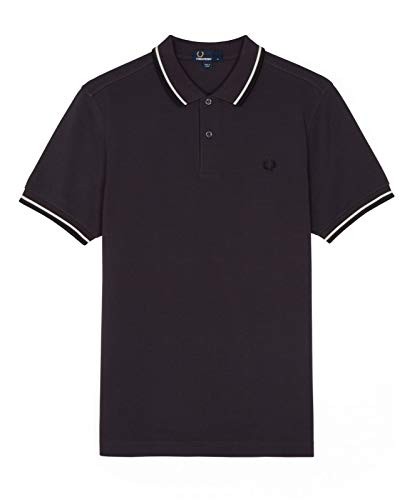 Fred Perry Twin Tipped Shirt Black Grape, Polo - S