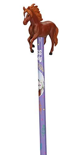 Depesche 6866 Bleistift mit 3D Topper, Miss Melody, ca. 1,5 x 6 x 20,5 cm, sortiert