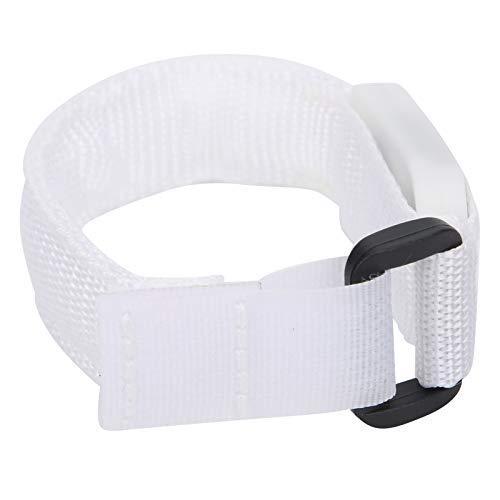 Cinturón reflectante, brazalete LED con correa de nailon de alta visibilidad, pulsera iluminada 24x2cm Funciona con pilas 3 modos de iluminación para hombres, mujeres(white)