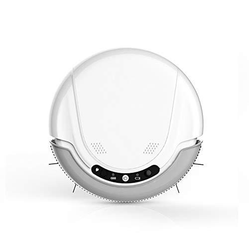E-KIA Robot Aspirador Aspiradoras Sin Bolsa - SuccióN Alta con Brocha Batidora, Sensor De CaíDa, Funciona En Pisos Duros Y Alfombras
