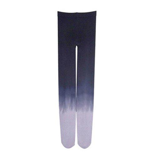 style_dress Damen Frauen Overknee Strümpfe Stützstrümpfe elastische Kniestrümpfe Oberschenkel Hohe StrümpfeFarbverlauf Strumpfhosen Leggings Socken (Marine)