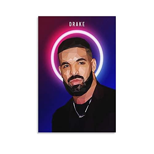 Jiuliang Drake Rapper Rapper Wpap Rap Rock Hip Hop DJ Poster Aubrey Drake Grahame Stampa artistica su tela e Wall Art Poster moderno per camera da letto di famiglia 30 x 45 cm
