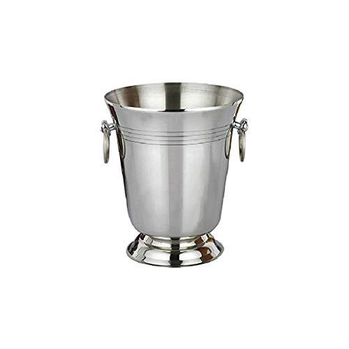 WZHZJ De Metal de Hielo Bucket- Acero Inoxidable de Pared Doble Cubo de Hielo, Tapa sellada, Interior de Acero, Cobre Exterior, Chiller Bin Cesta for Partes