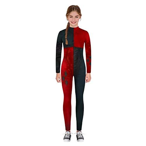 Szytypyl Boys Girls Clown Joker Costume Hallowen Cospaly Bodysuit Jumpsuit Onesies Romper for Kids