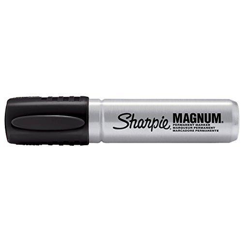 Sharpie Magnum Permanent Markers, Chisel Tip, Black, (Pack of 12)