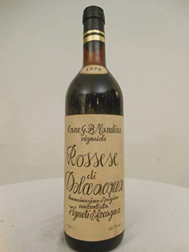 rossese di dolce acqua mandino rouge 1979 - italie: une bouteille de vin.