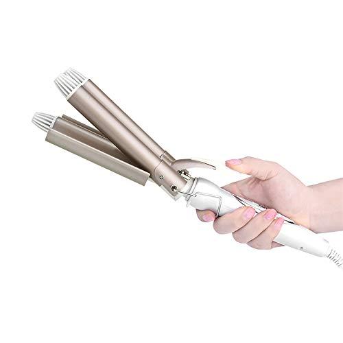 Homejuan Professionele krultang, 110-220 V, keramische driepersoons barrel krulspelden waver styling gereedschap haarstyler