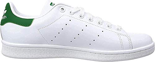 adidas Originals Stan Smith M20324, Unisex-Erwachsene Low-Top Sneaker, Weiß (Running White/Running White/Fairway), EU 40 2/3