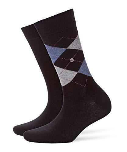 Burlington Damen Socken Everyday - Baumwollmischung, 2 Paar, Schwarz (Black 3000), 36-41