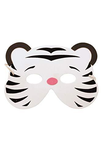 Party Pro 871188 Enfant Masque Tigre Blanc EVA, Multicolore