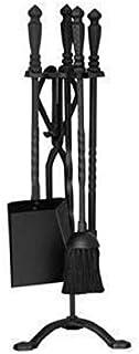 Fireside Companion Tool Set مواقد النمط الأوروبي مجموعة من 4 مجموعات من أدوات المدفأة كماشة، لعبة البوكر، الركيزة، مجرفة و...