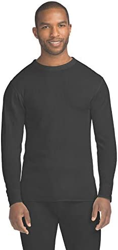 Hanes Women/'s Long Sleeve Thermal Waffle Knit Crew with FreshIQ and X-Temp Technology