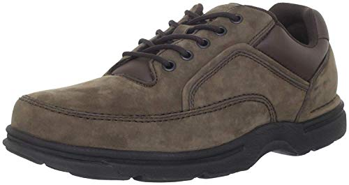 Rockport Men's Eureka Walking Shoe Oxford, Chocolate Nubuck, 10 XW US
