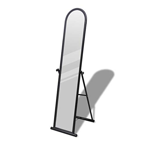 vidaXL Standspiegel Boden Stehend Spiegel Ankleidespiegel Ganzkörperspiegel