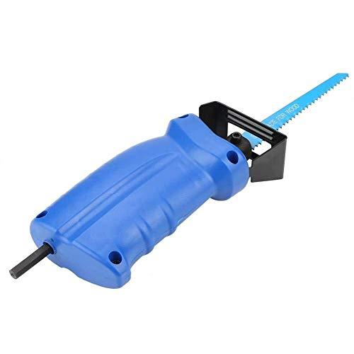 JKCKHA - Juego de sierra alterna, taladro eléctrico, adaptador para sierra de calar portátil con hojas de sierra alternativas y llave para madera, corte de metales