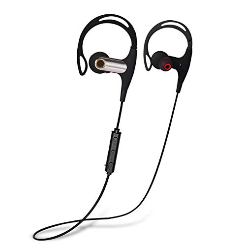 Bluetooth Headphones, Wireless Headphones, IPX7 Waterproof Wireless Sport Earbuds,Gym Running Workout, Richer Bass HiFi Stereo In-Ear Earphones, 7-9 Hrs Playtime, CVC6.0 Noise Cancelling w/Mic