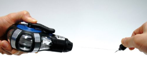シンワ測定『ハンディチョークライン5倍速手巻粉付3倍太糸(77560)』