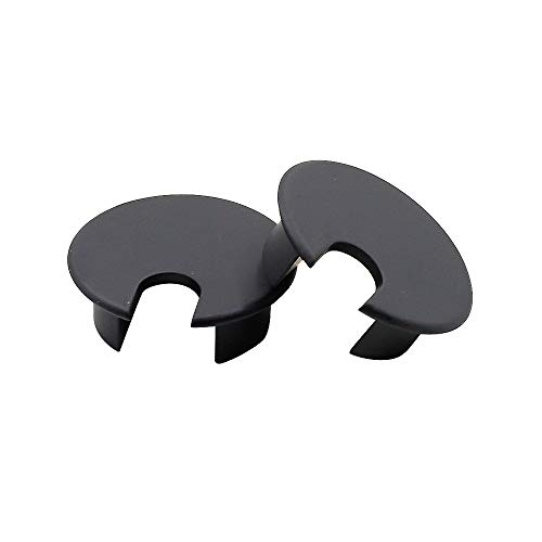 TUOREN 35mm Black Metal Desk Cord Cable Hole Cover Desk Table Grommet-2pcs