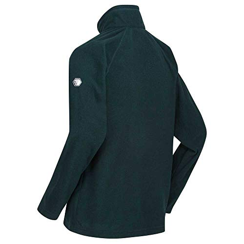 Regatta Men's Montes Lightweight Mini Stripe Microfleece Zip Neck Fleece, Deep Pine, M