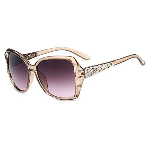 WERERT Gafas de Sol Deportivas,Large Frame Sunglasses Women Vintage Gradient Shopping Glasses Uv400 Travel Feminino