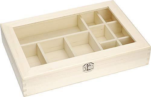 Knorr Prandell Caja redonda madera FSC, 11 x 8 cm color marr/ón