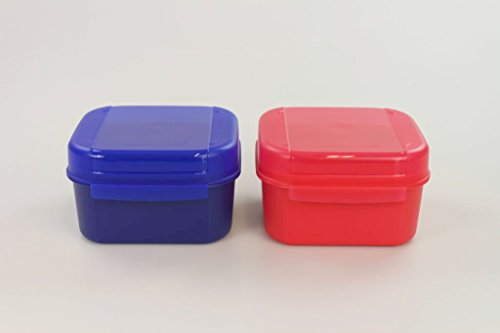 TUPPERWARE Bellevue 450ml dunkelblau+450ml erdbeerrot Vorrat Apollo Royal Mini 27310