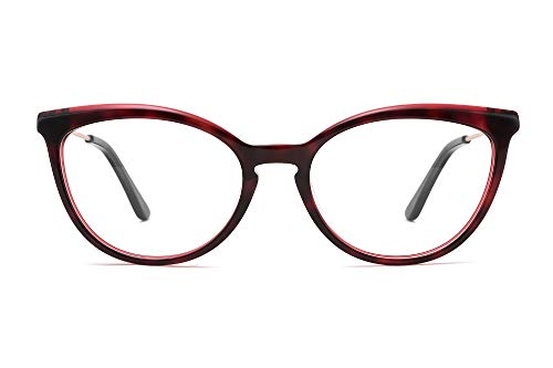 MEDOLONG JS4131 Marco de impresora 3D para mujer anti rayos azules de visión corta, C5 Vino Rojo,...