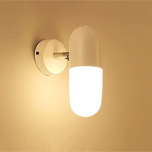 WHSW Aplique de Pared para baño, nórdico, Moderno, Minimalista, lámpara de Pared...