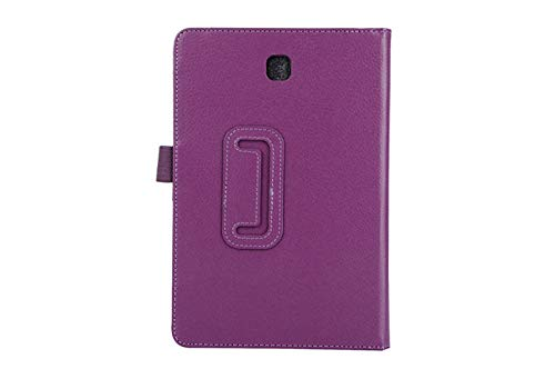 Tablet Case For Samsung Galaxy Tab A T550 T555 SM-T550 9.7 Stand PU Leather Smart Cover Case Protector-Purple