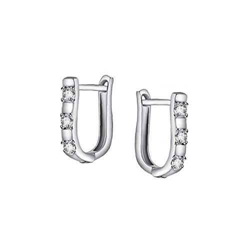 1 paire Fantaisie Zircon U Boucles d'oreilles oreilles Brillante Pierced Bijoux Boucles d'oreilles élégant pour les filles de femmes