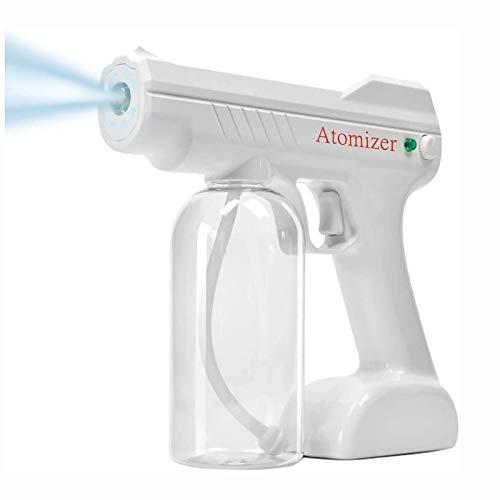 Wireless Electric Sprayer Gun, Handheld Rechargeable ULV Fogger Machine Disinfectant 800ML White Atomizer Disinfection Machine Nano Vapor Spray Gun Fog Tool
