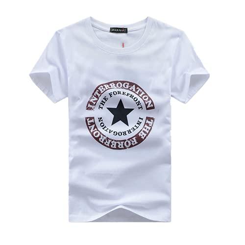 Camiseta de manga corta para hombre media manga