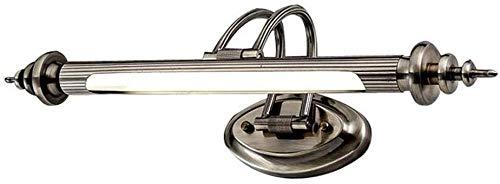 Modern LED Spiegelleuchte 45cm Bad-beleuchtung Wandleuchte aus Metall Vintage Retro Beschlagfrei Make Up Spiegel Licht für Badezimmer Bad Arbeitszimmer Wohnzimmer Wandbild, 7W 4500K Neutraleslicht