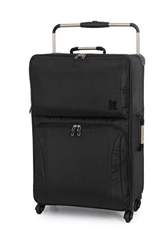 IT World's Lightest 74cm Softside Luggage Four Wheel Suitcase Black