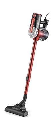 Ariete 2761 - Aspirador con Cable 2 en 1, de Mano y Escoba, Ciclónico, Filtro Hepa, 600 W, Color Rojo/Gris